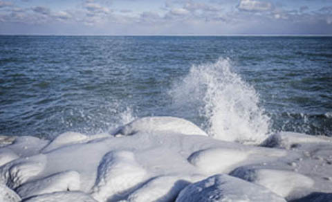 Winter on Great Lakes