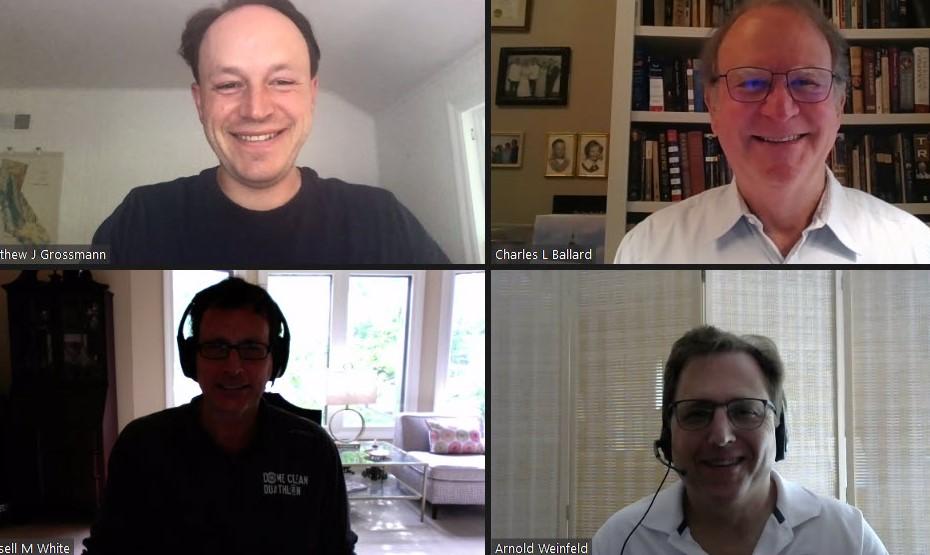 Matt Grossmann, Charles Ballard, Russ White and Arnold Weinfeld