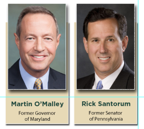 O'Malley and Santorum