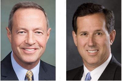 Martin O'Malley and Rick Santorum