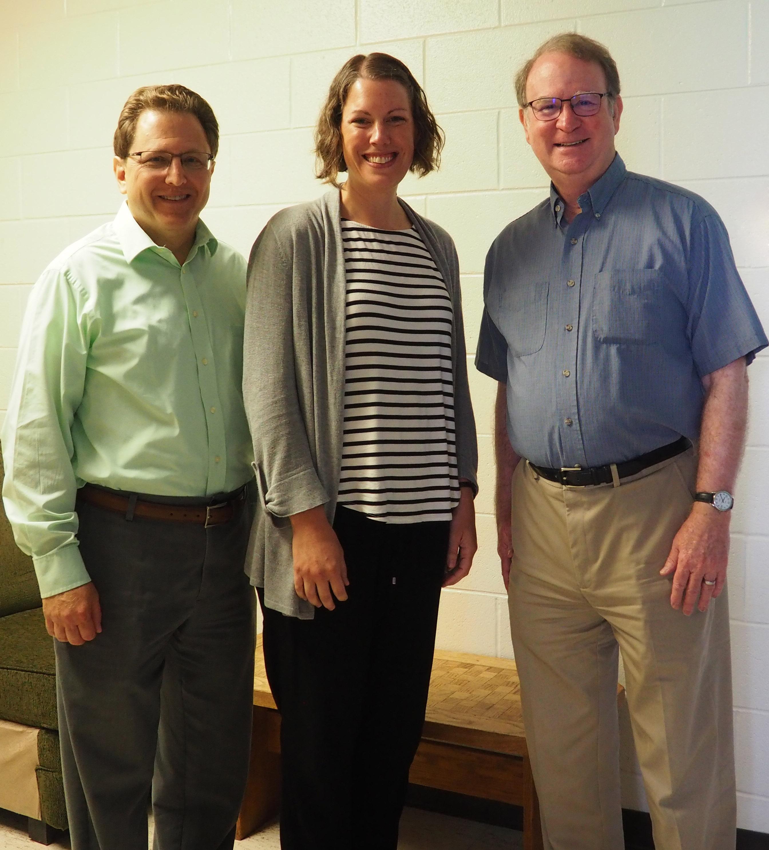 Arnold Weinfeld, Bethany Wilinski and Charles Ballard